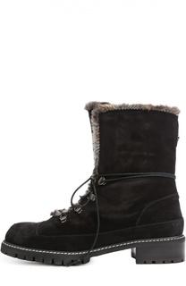 Замшевые ботинки Luge на шнуровке Stuart Weitzman