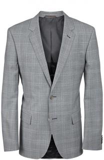 Шерстяной пиджак в клетку Prince of Wales BOSS