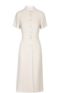 Платье-рубашка с поясом BOSS