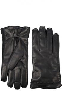 Кожаные перчатки с кашемировым подкладом Giorgio Armani