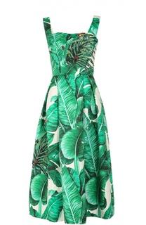 Сарафан с цветочным принтом и декоративной отделкой Dolce & Gabbana