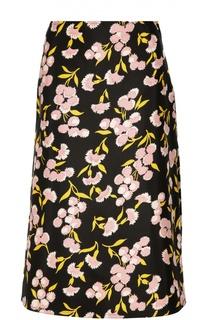 Юбка-миди А-силуэта с цветочным принтом Marni
