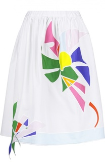 Юбка А-силуэта с контрастной вышивкой Mira Mikati