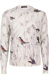 Шелковый джемпер с принтом Dolce & Gabbana
