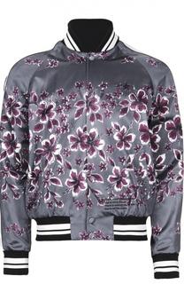 Куртка-бомбер с цветочным принтом Valentino
