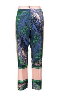 Шелковые брюки в пижамном стиле с ярким принтом Emilio Pucci
