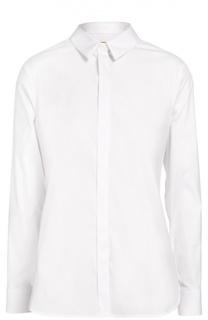 Хлопковая блуза прямого кроя Burberry