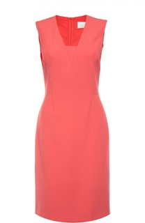 Приталенное платье без рукавов с V-образным вырезом BOSS