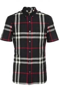 Рубашка из смеси льна и хлопка Burberry Brit