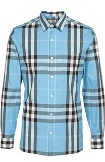 Хлопковая рубашка в клетку Burberry Brit