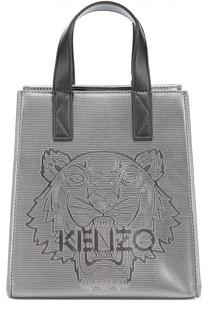 Металлизированная сумка-тоут Tiger Kenzo
