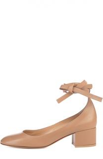 Кожаные туфли Petra с ремешками на щиколотке Gianvito Rossi