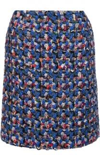 Буклированная мини-юбка прямого кроя Emilio Pucci