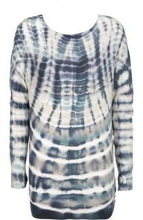 Удлиненный пуловер с контрастным принтом Raquel Allegra