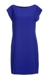 Мини-платье прямого кроя с вырезом-лодочка Polo Ralph Lauren