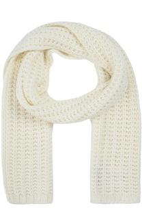 Вязаный шарф с логотипом бренда Moncler