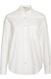 Хлопковая блуза прямого кроя с накладным карманом T by Alexander Wang