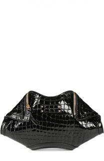 Кожаный клатч De Manta с тиснением под крокодила Alexander McQueen