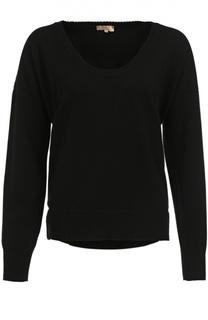 Кашемировый пуловер свободного кроя с круглым вырезом Back Label