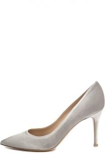 Бархатные туфли Classic на шпильке Gianvito Rossi