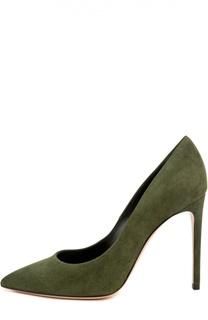 Замшевые туфли Perfect на шпильке Casadei