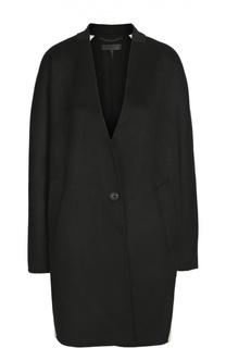 Шерстяное пальто свободного кроя с контрастной отделкой Rag&Bone Rag&Bone