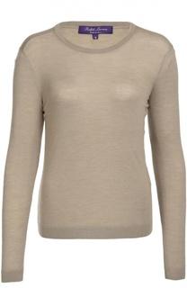 Приталенный кашемировый пуловер с круглым вырезом Ralph Lauren