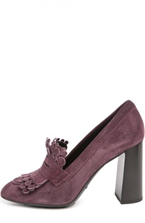 Замшевые туфли Gomma с декором Tod's