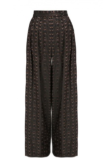 Широкие брюки с защипами и широким поясом Dries Van Noten