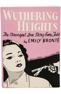 Клатч в виде книги с аппликацией Wuthering Heights Olympia Le-Tan