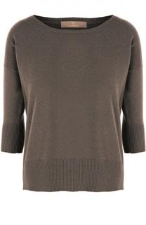 Кашемировый пуловер с круглым вырезом и укороченным рукавом Cruciani