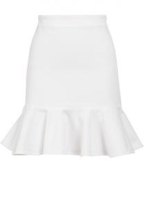 Мини-юбка с широким поясом и оборкой Polo Ralph Lauren