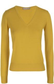 Шерстяной пуловер прямого кроя с V-образным вырезом Cruciani