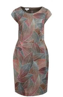 Приталенное платье с цветочным принтом и коротким рукавом Escada Sport