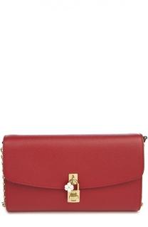 Кожаный клатч Dolce на цепочке Dolce & Gabbana