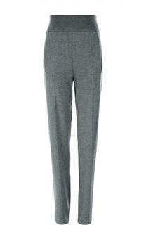 Шерстяные брюки прямого кроя с эластичным поясом и карманами Lanvin