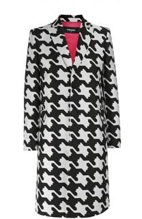 Пальто прямого кроя с принтом гусиная лапка Dsquared2