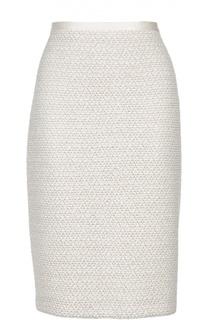 Буклированная юбка-карандаш с разрезом St. John