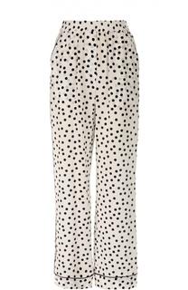 Шелковые брюки в горошек с эластичным поясом и карманами Dolce & Gabbana