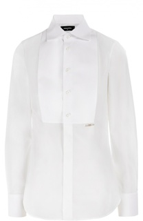 Приталенная блуза с планкой и декоративной отделкой Dsquared2