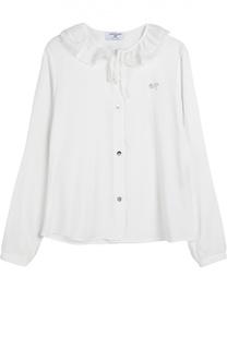 Блуза из вискозы с декором Monnalisa