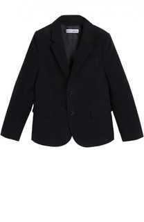 Хлопковый пиджак с контрастными элементами Dolce & Gabbana
