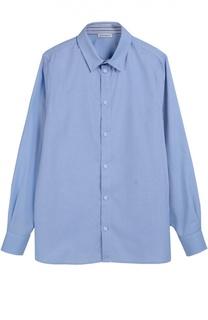 Хлопковая рубашка с воротником button-down Dolce & Gabbana