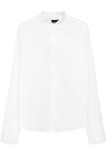 Хлопковая блуза с оборками Dal Lago