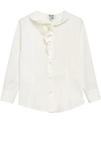 Блуза с оборками из эластичного хлопка Aletta