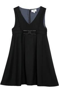 Платье без рукавов с бантом Aletta