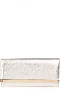 Клатч Milla из металлизированной кожи с блестками Jimmy Choo