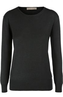 Кашемировый пуловер с укороченным рукавом и круглым вырезом Cruciani
