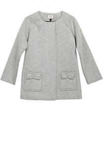 Пальто с круглым вырезом и декором Giorgio Armani