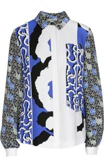 Блуза прямого кроя с ярким принтом Kenzo